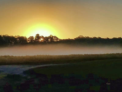 Photograph - Misty Sunrise by Paulette B Wright