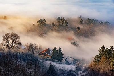 Photograph - Misty Sunset by Bez Dan
