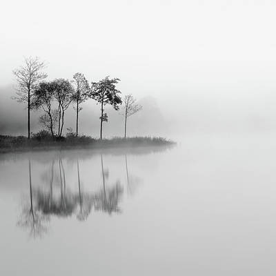 Photograph - Misty Trees - Loch Ard by Grant Glendinning
