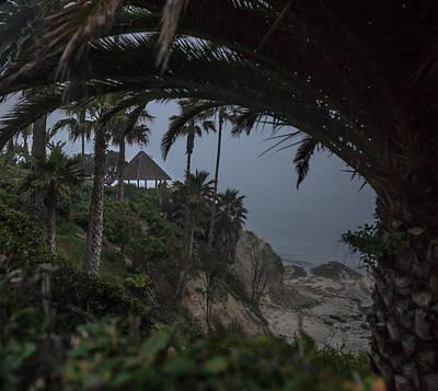 Photograph - Misty View Of Gazebo Along Heisler Park by Cliff Wassmann