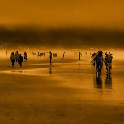 Seascape Photograph - Misty Walk by David Patterson