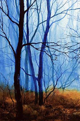 Autumn Landscape By Hanne Lore Koehler Painting - Misty Woods - 1 by Hanne Lore Koehler