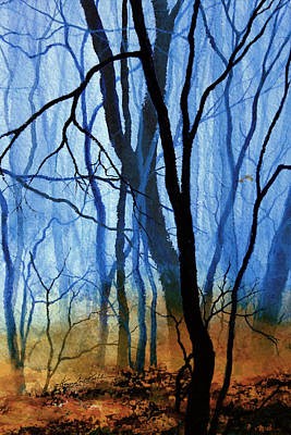 Forest Painting - Misty Woods - 3 by Hanne Lore Koehler