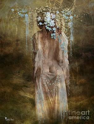 Digital Art - Misty Woods by Ali Oppy