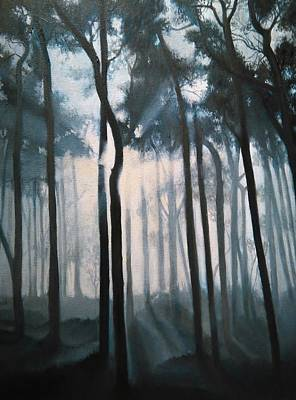 Painting - Misty Woods by Caroline Philp