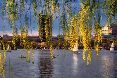 Spring Scenes Photograph - Mit Sailing Pavilion - Boston by Joann Vitali