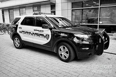 Mit University Campus Police Patrol Vehicle Boston Usa Art Print