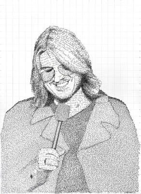 Mitch Hedberg In His Own Jokes Art Print by Phil Vance