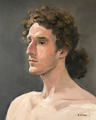 Painting - Mitch With Hair Tied Back by Robert Holden