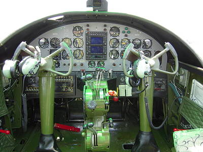 Mitchell B-25 Bomber Cockpit Art Print by Don Struke