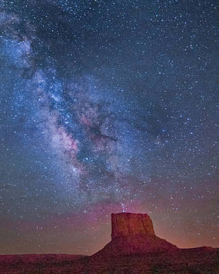 Mitchell Butte Milky Way 1 Art Print by Joe Kopp
