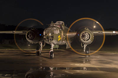 Photograph - Mitchell Night Engine Run by Liza Eckardt