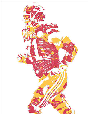 Mixed Media - Mitchell Schwartz Kansas City Chiefs Pixel Art 1 by Joe Hamilton