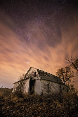 Photograph - Mitchell White Barn  by Aaron J Groen