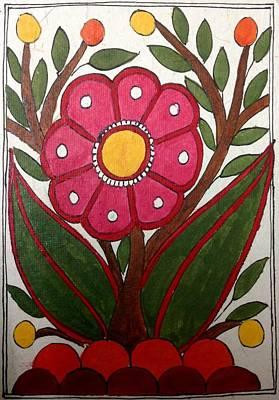 Painting - Mithila Bloom by Vidushini Prasad