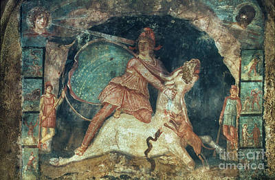 Aodcc Painting - Mithras Killing The Bull by Granger