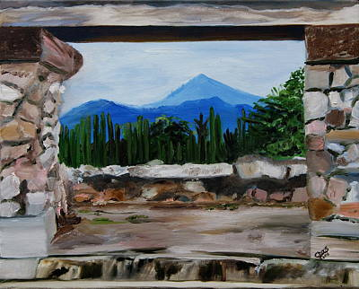 Mexico Painting - Mitla Ruins Overshadowed by Sylvia Riggs