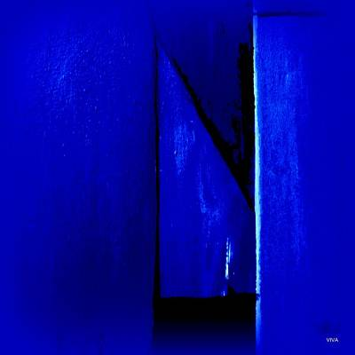 Painting - Mitre In Blue - Abstract by VIVA Anderson