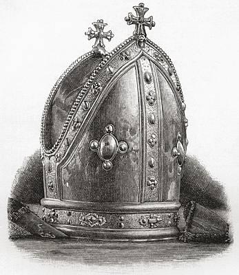 Wren Drawing - Mitre Of Bishop Wren. Matthew Wren by Vintage Design Pics
