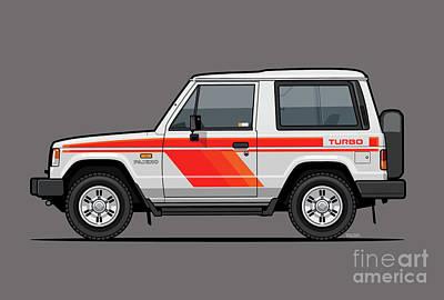 Mitsubishi Pajero Montero Shogun 3 Door Turbo Diesel Art Print