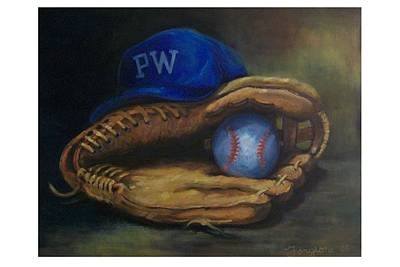 Mitt Painting - Mitt And Ball by Tom Forgione