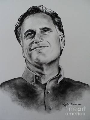 Drawing - Mitt Romney by Carla Carson