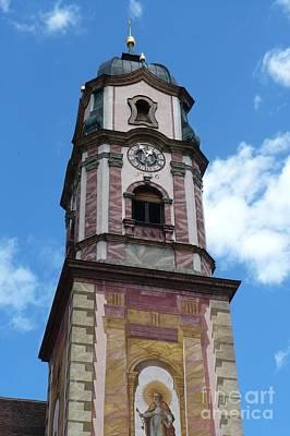 Photograph - Mittenwald Clock Tower by Carol Groenen