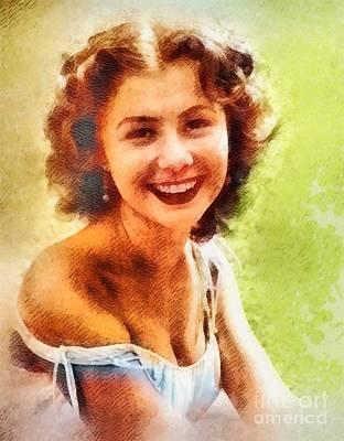 Mitzi Gaynor, Vintage Hollywood Actress Art Print by John Springfield