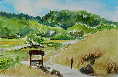 Painting - Miwok Meadows, China Camp State Park by Tom Simmons