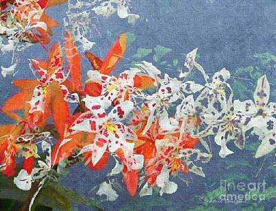 Digital Art - Mix Of Orchids by Kathie Chicoine