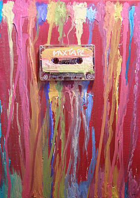 Tape Mixed Media - Mix Tape II by Michelle Foster