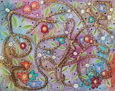 Vines Painting - Mixed Bag by Karla Gerard