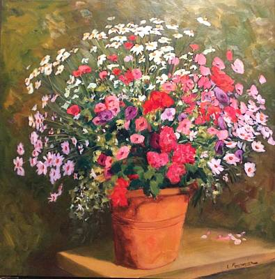 Painting - Mixed Bouquet  by Liliane Fournier