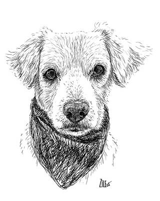Digital Art - Mixed-breed @namithedoxielab by ZileArt