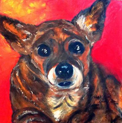 Painting - Mixed Breed- Sadie My Girl by Laura  Grisham