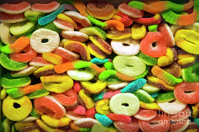 Photograph - Mixed Colorful Fruit Candy by David Zanzinger