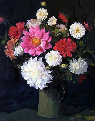Painting - Mixed Dahlias by Robert Holden