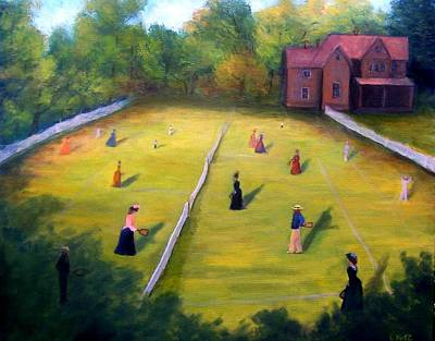 Art Print featuring the painting Mixed Doubles by Gail Kirtz