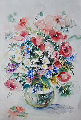 Painting - Mixed Floral Still Life by Ingrid Dohm