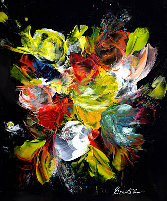 Wall Art - Painting - Mixed Media Bouquet by Alexis Bonavitacola