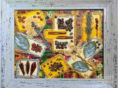 Shipping Mixed Media - Mixed Media  Kitchen Collage by Viktoriya Sirris