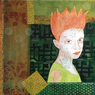 Painting - Mixed Media Orange Green by Patricia Cleasby