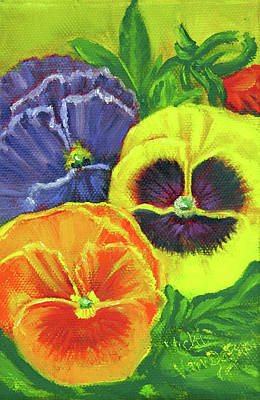 Painting - Mixed Pansy  by Vicki VanDeBerghe