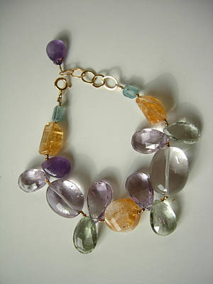 Adove Jewelry - Mixed Quartz And Gem Bracelet by Adove  Fine Jewelry