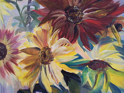 Painting - Mixed Sunflowers by Chris Wing
