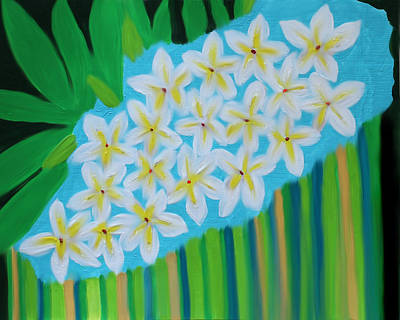 Painting - Mixed Up Plumaria by Deborah Boyd