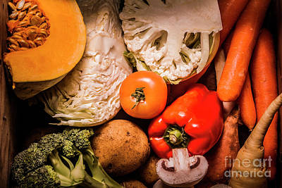 Mixed Vegetable Produce Pack Art Print