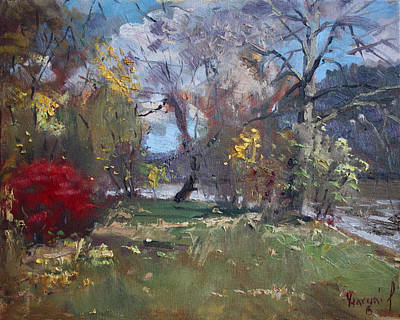 Hyde Park Painting - Mixed Weather In A Fall Afternoon by Ylli Haruni