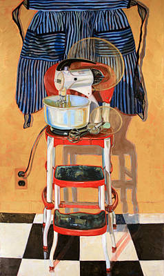 Stepstools Painting - Mixer Maesta by Jennie Traill Schaeffer