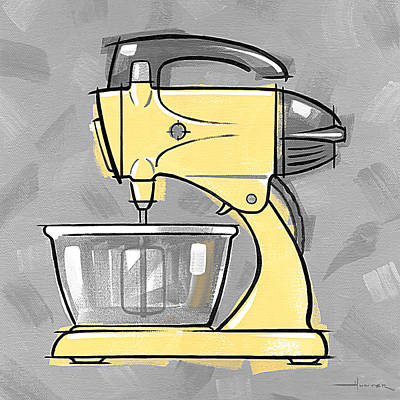 Painting - Mixer Yellow by Larry Hunter